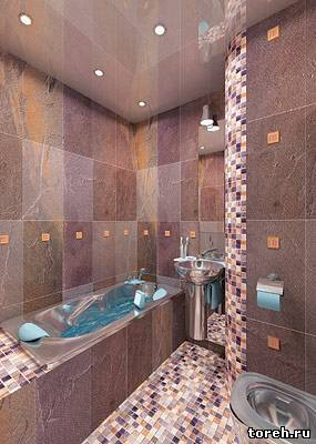 Дизайн ванной комнаты малого размера