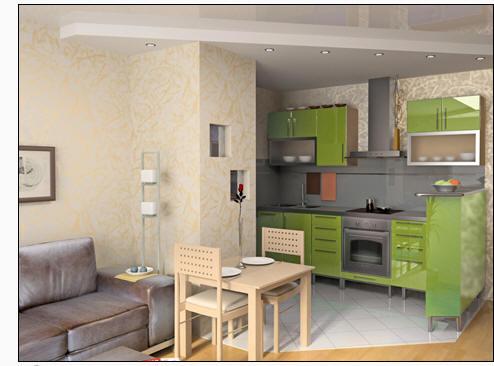 Дизайн кухни с эркерным окном фото