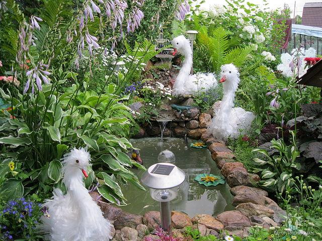Украшение сада и огорода своими руками фото